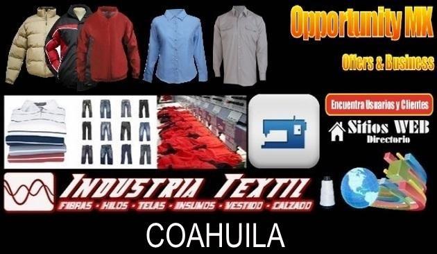 Coahuila directorio sitiosweb industria textil