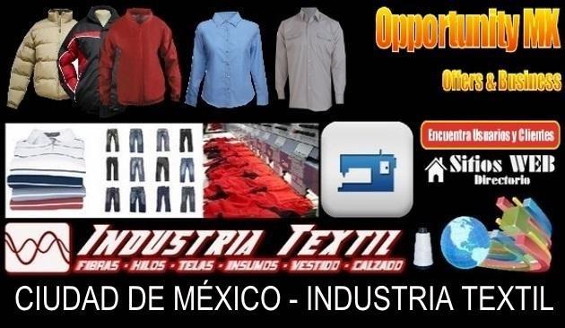 Directorio sitios web industria textil cdmx