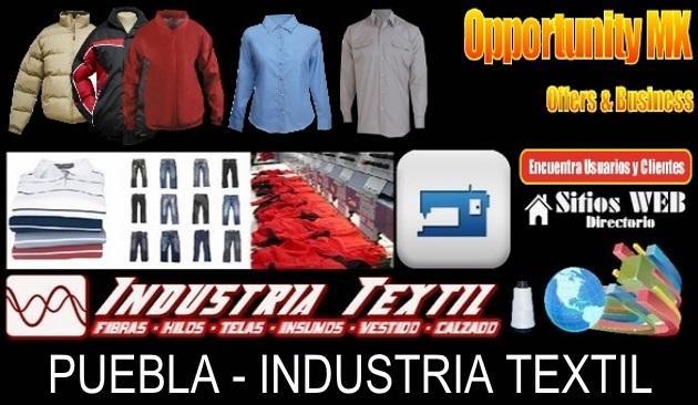 Directorio sitios web industria textil puebla