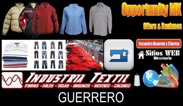 Guerrero directorio sitiosweb industria textil