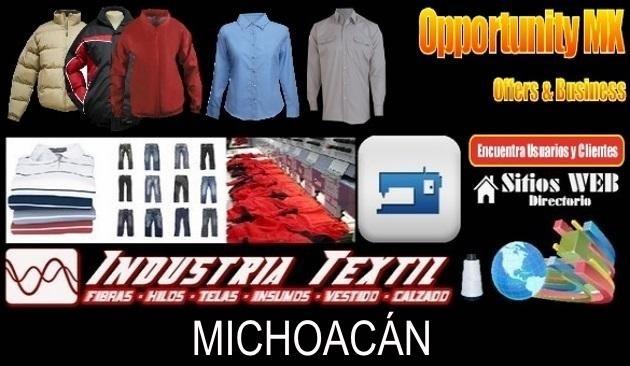 Michoacan directorio sitiosweb industria textil