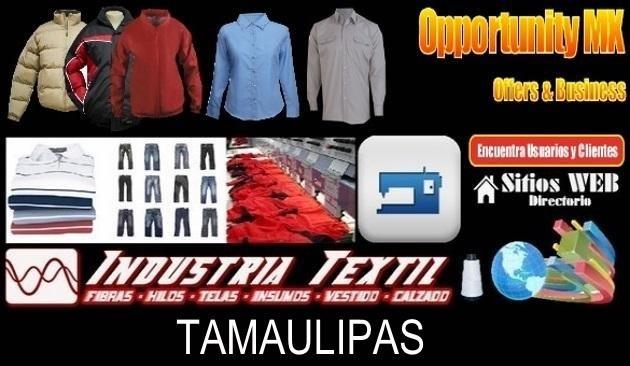 Tamaulipas directorio sitiosweb industria textil
