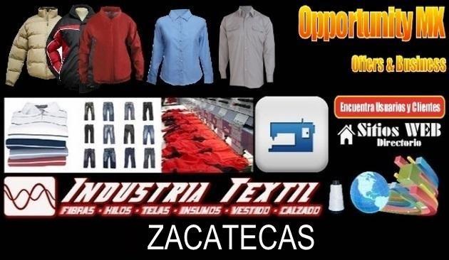 Zacatecas directorio sitiosweb industria textil